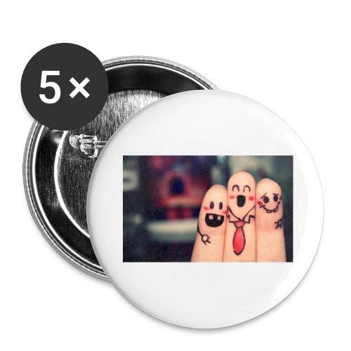 słodkie palce - Przypinka duża 56 mm (pakiet 5 szt.)