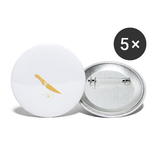 La pin-up à son barbu - Lot de 5 grands badges (56 mm)