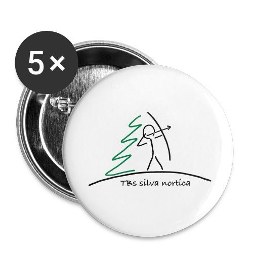 Logo TBS silva nortica - Buttons groß 56 mm (5er Pack)