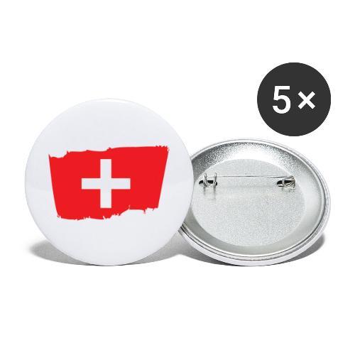 Switzerland - Paquete de 5 chapas grandes (56 mm)