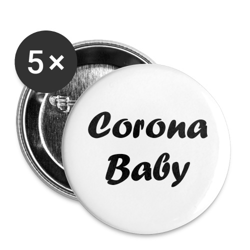 Corona baby merchandise black - Buttons large 2.2''/56 mm(5-pack)