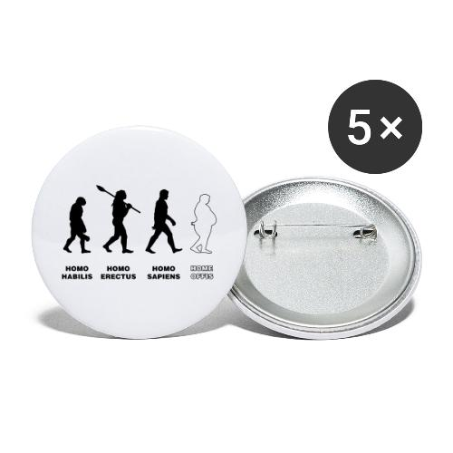 evolution corona 01 - Buttons groß 56 mm (5er Pack)