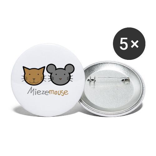 Miezemouse Logo - Buttons groß 56 mm (5er Pack)