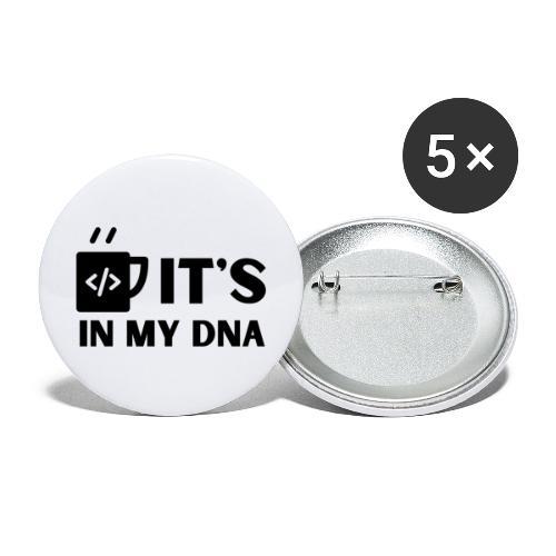 IT's in my DNA - Stora knappar 56 mm (5-pack)