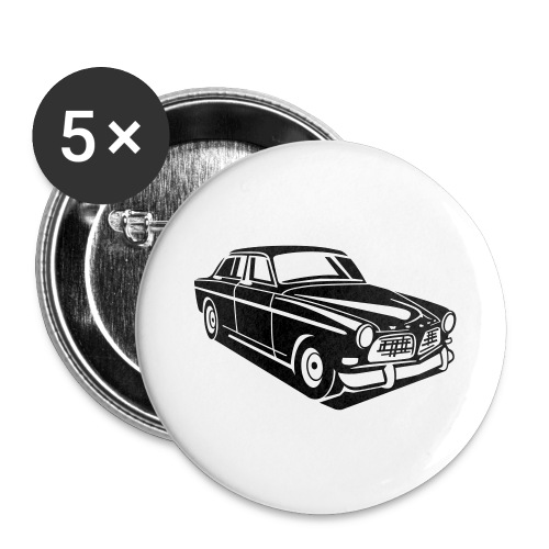 Volvo Amazon Volvoamazon - Buttons groß 56 mm (5er Pack)