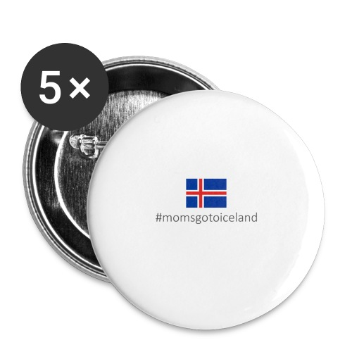 Iceland - Buttons large 2.2''/56 mm(5-pack)