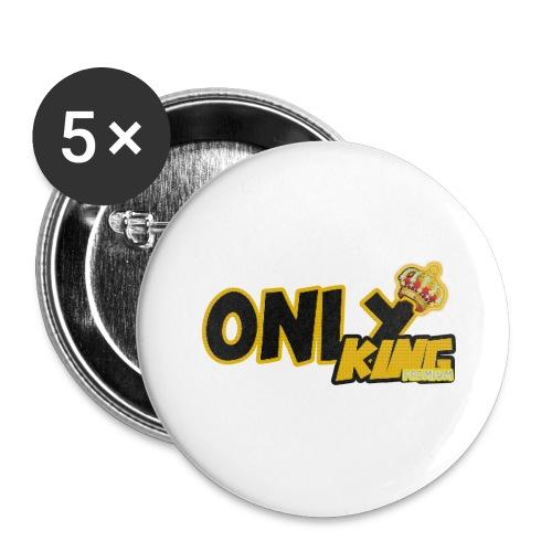 OnlyKing snapback - Lot de 5 grands badges (56 mm)