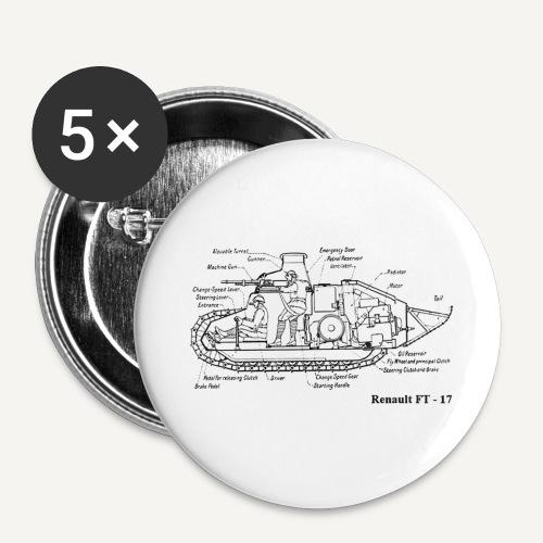 ft17 - Przypinka duża 56 mm (pakiet 5 szt.)