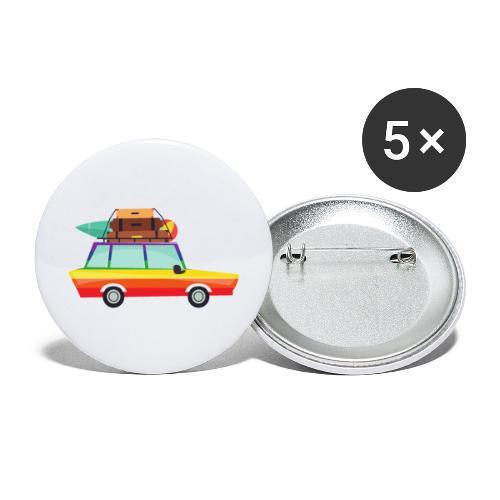Gay Van | LGBT | Pride - Buttons groß 56 mm (5er Pack)