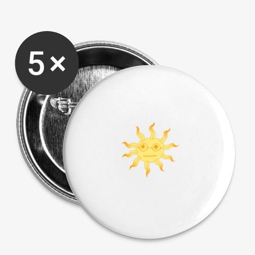 soleil - Lot de 5 grands badges (56 mm)