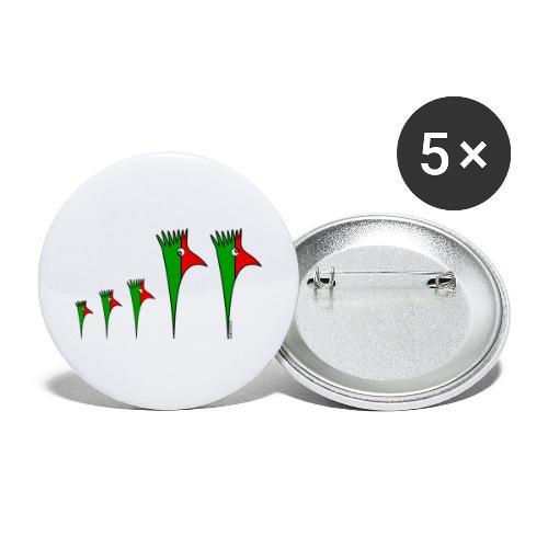 Galoloco - Família3 - Lot de 5 grands badges (56 mm)