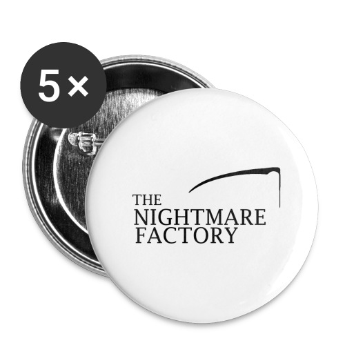 nightmare factory Nero png - Buttons large 2.2''/56 mm(5-pack)