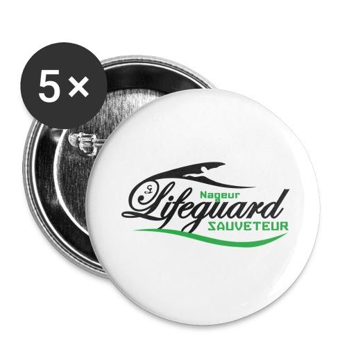 lifeguard NS - Lot de 5 grands badges (56 mm)