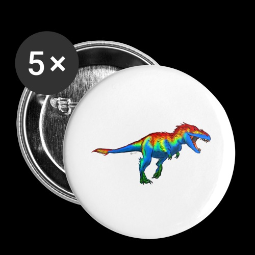 T-Rex - Buttons large 2.2''/56 mm(5-pack)