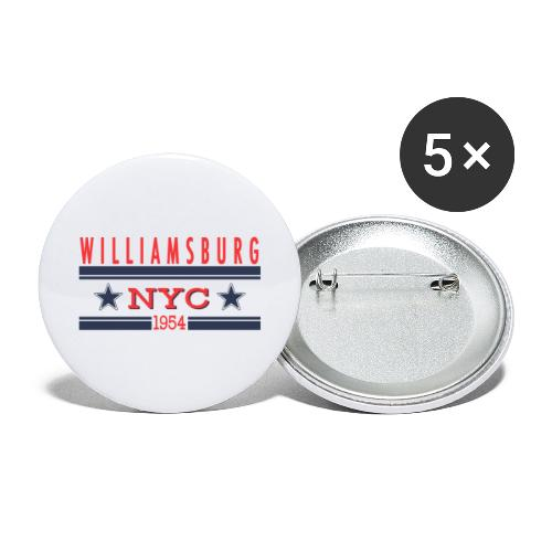 Williamsburg Hipster - Buttons groß 56 mm (5er Pack)