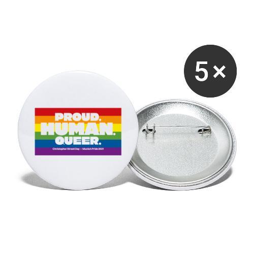 MOTTO CSD München 2021 - Regenbogen - Buttons groß 56 mm (5er Pack)