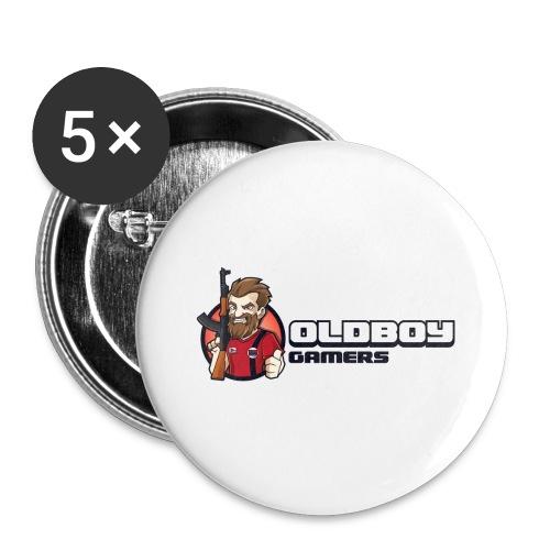 Oldboy Gamers Fanshirt - Stor pin 56 mm (5-er pakke)