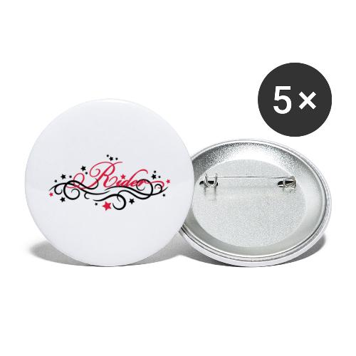 Rider - Buttons groß 56 mm (5er Pack)