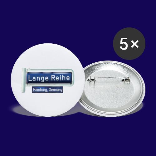 Lange Reihe: altes Straßenschild, Hamburg Germany - Buttons groß 56 mm (5er Pack)
