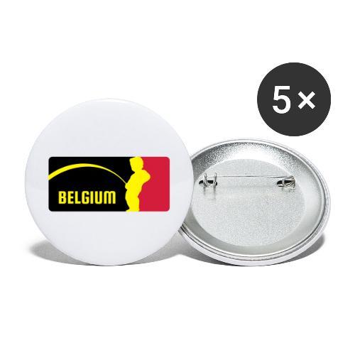 Mannekke Pis, Belgium Rode duivels - Belgium - Bel - Lot de 5 grands badges (56 mm)