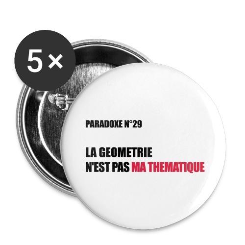 PARADOXE geometrie - Lot de 5 grands badges (56 mm)