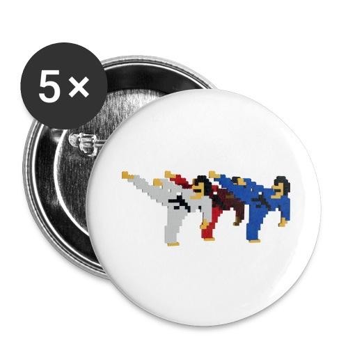 8 bit trip ninjas 2 - Buttons large 2.2''/56 mm(5-pack)