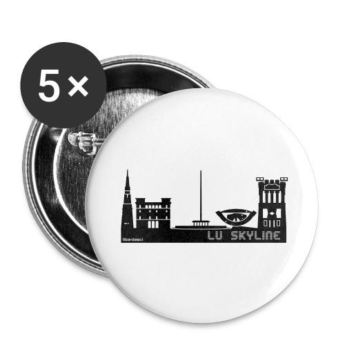 Lu skyline de Terni - Confezione da 5 spille grandi (56 mm)