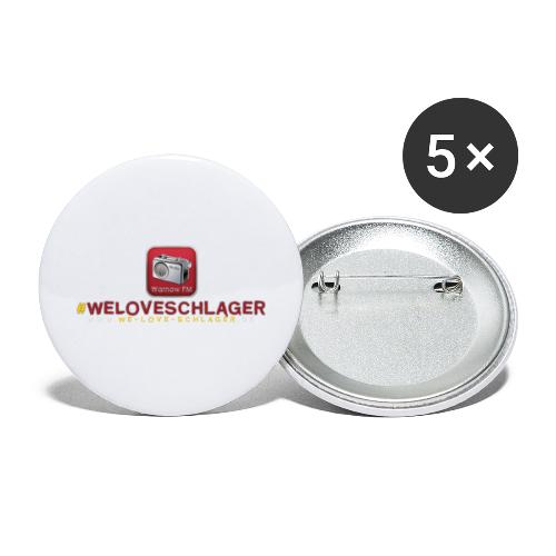 WeLoveSchlager de - Buttons groß 56 mm (5er Pack)