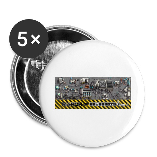 #MarchOfRobots ! LineUp Nr 1 - Buttons/Badges stor, 56 mm (5-pack)