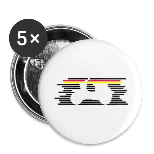 schwalbe streifen negativ - Buttons groß 56 mm (5er Pack)