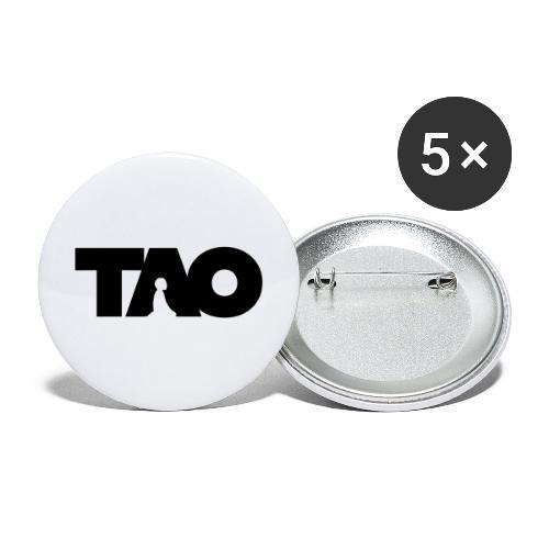 Tao meditation - Lot de 5 grands badges (56 mm)