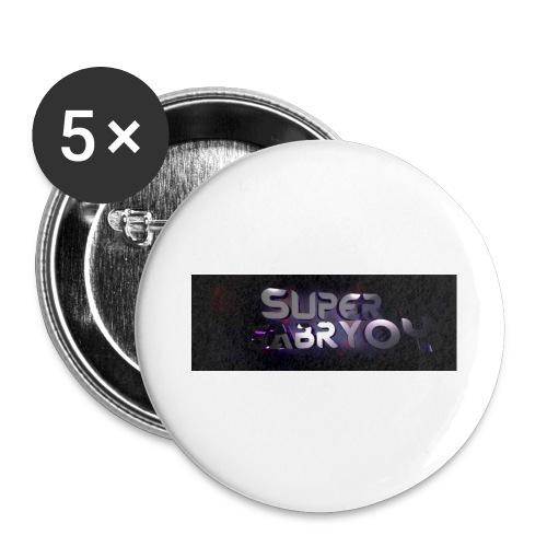 SUPERGABRY04 - Confezione da 5 spille grandi (56 mm)