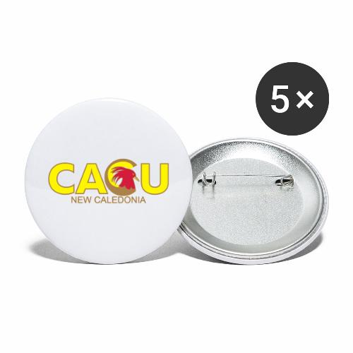 Cagu New Caldeonia - Lot de 5 grands badges (56 mm)