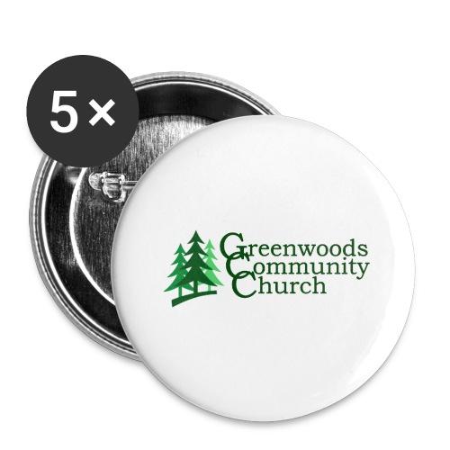 praise community church - Confezione da 5 spille grandi (56 mm)