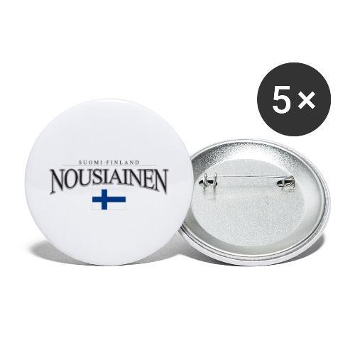 Suomipaita - Nousiainen Suomi Finland - Rintamerkit isot 56 mm (5kpl pakkauksessa)