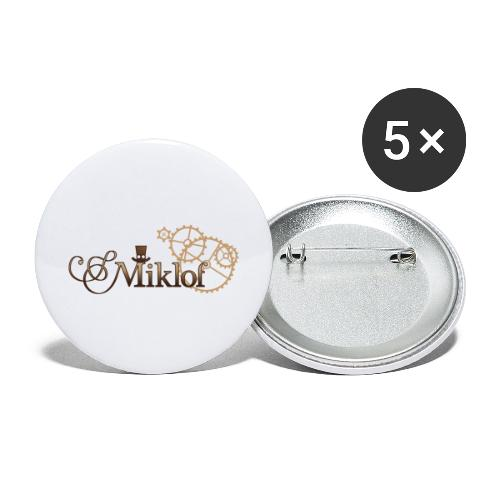 miklof logo gold wood gradient 3000px - Buttons large 2.2''/56 mm(5-pack)