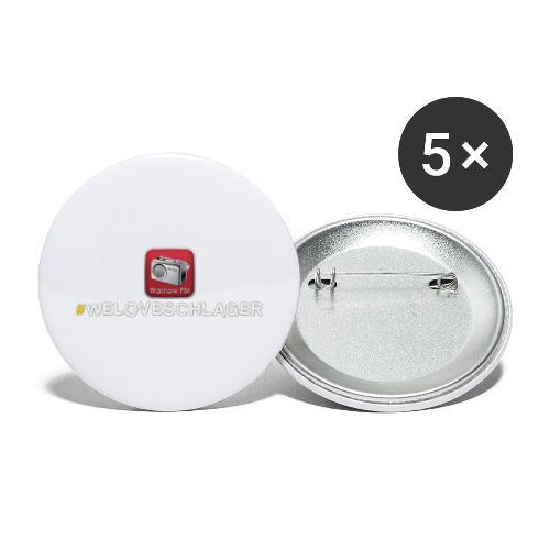 WeLoveSchlager 1 - Buttons groß 56 mm (5er Pack)