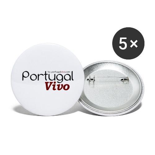 Portugal Vivo - Lot de 5 grands badges (56 mm)