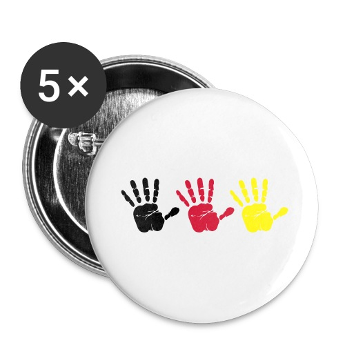 Handabdruck Trio - Buttons groß 56 mm (5er Pack)
