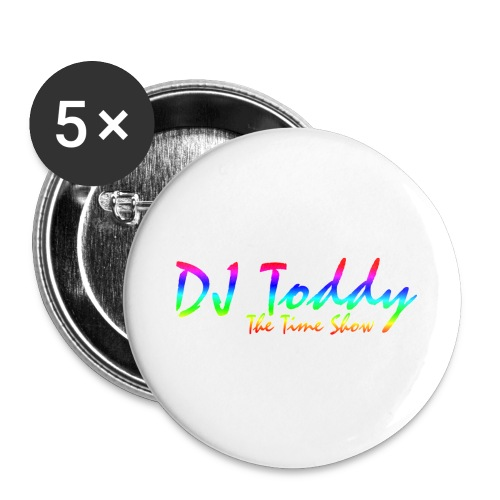 DJ Toddy The Time Show - Buttons groß 56 mm (5er Pack)