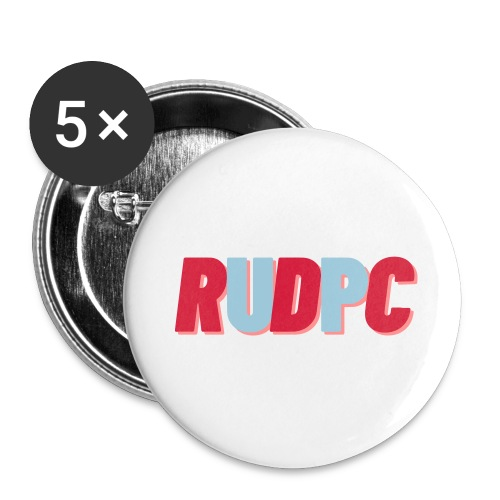 RUDPC - Buttons/Badges stor, 56 mm (5-pack)