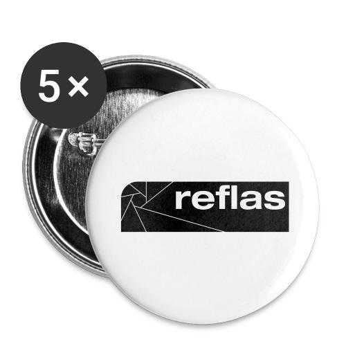 Reflas Clothing Black/Gray - Confezione da 5 spille grandi (56 mm)
