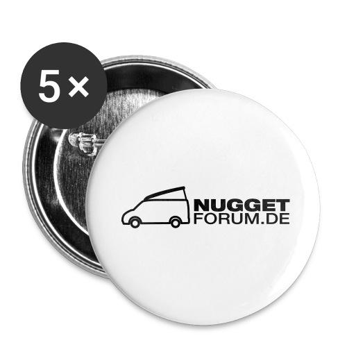 Nuggetforum Aufkleber Auf - Buttons groß 56 mm (5er Pack)