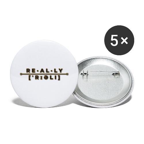 really slogan - Buttons groß 56 mm (5er Pack)