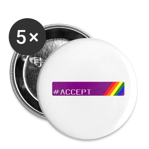 79 accept - Buttons groß 56 mm (5er Pack)