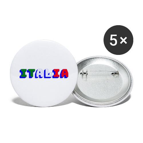 Italia - Confezione da 5 spille grandi (56 mm)