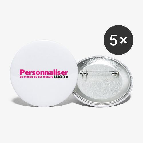 logo personnaliser - Lot de 5 grands badges (56 mm)
