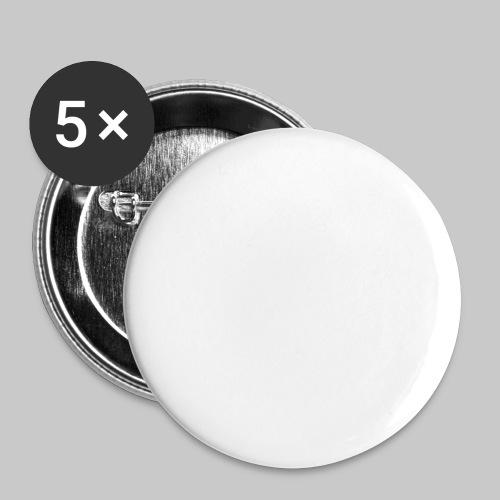 valkoinen - Rintamerkit isot 56 mm (5kpl pakkauksessa)