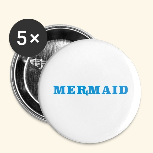 Mermaid logo - Stora knappar 56 mm (5-pack)