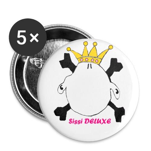 sissi weiß mit krone freigestellt png - Buttons groß 56 mm (5er Pack)